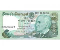 Notas 20$00 CH9 Almirante Gago Coutinho
